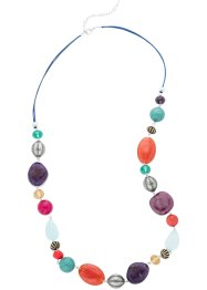 Collana lunga di pietre colorate, bpc bonprix collection