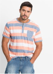 Maglia con bottoncini regular fit, John Baner JEANSWEAR, Salmone a righe
