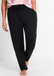 Pantalone lungo alla turca per wellness, bpc bonprix collection, Nero