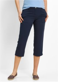 Pantalone 3/4 in viscosa, bpc bonprix collection, Blu scuro