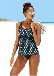 Top per tankini, bpc bonprix collection, Nero / blu / bianco