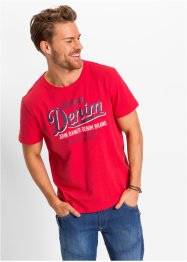 T-shirt stampata regular fit, John Baner JEANSWEAR, Rosso