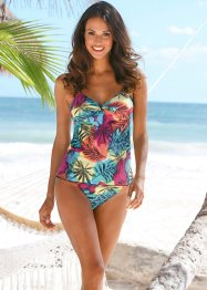 Top per tankini, bpc bonprix collection, Fucsia / blu fantasia