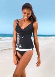 Tankini, bpc bonprix collection, Nero / bianco