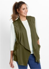 Gilet ampio, bpc bonprix collection, Verde oliva scuro