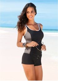 Top per tankini, bpc selection, Nero / beige