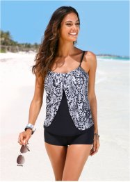 Top per tankini, bpc selection, Nero / grigio