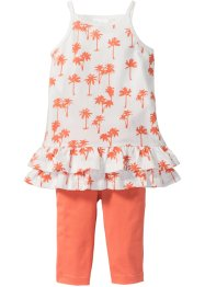 Abito con volants + leggings 3/4 (set 2 pezzi), bpc bonprix collection