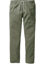 Pantalone in misto lino con elastico regular fit tapered, RAINBOW