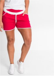 Shorts in maglina con coulisse regolabile e contrasto di colori, bpc bonprix collection, Granata