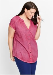 Camicia con tintura a freddo, bpc bonprix collection, Fucsia medio