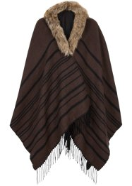 Poncho con ecopelliccia, bpc bonprix collection