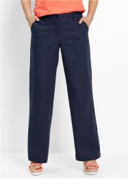 Pantaloni in lino, bpc bonprix collection, Blu scuro