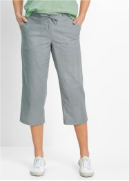 Pantalone 3/4 in misto lino, bpc bonprix collection, Grigio