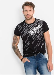 T-shirt slim fit, RAINBOW, Nero