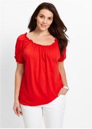Maglia a manica corta con elastici, bpc bonprix collection, Fragola