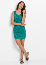 Abito in maglina, bpc bonprix collection, Verde mare fantasia