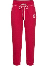 Pantalone da jogging 7/8, bpc bonprix collection, Granata melange