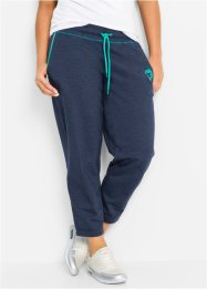 Pantalone da jogging 7/8, bpc bonprix collection, Blu scuro melange