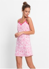 Camicia da notte, bpc bonprix collection, Rosa a fiori