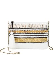 Borsa a tracolla con conchiglie e monete, bpc bonprix collection, Crema / oro