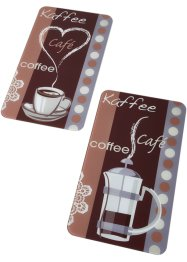 Coprifornelli con caffè (set 2 pezzi), bpc living bonprix collection