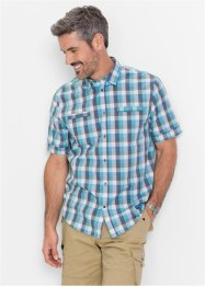 Camicia a quadri regular fit, bpc selection, Acqua a quadri