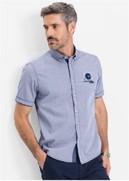 Camicia a manica corta regular fit, bpc selection, Azzurro a righe