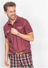 Polo regular fit, bpc bonprix collection, Rosso acero
