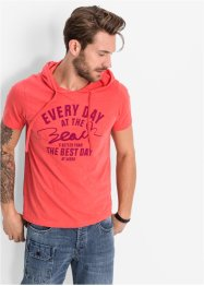 T-shirt con cappuccio slim fit, RAINBOW