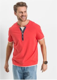 T-shirt con boottoncini regular fit, John Baner JEANSWEAR