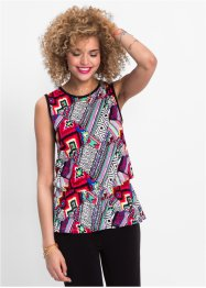 Top con peplum, RAINBOW
