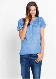Blusa a mezza manica con pizzo, bpc bonprix collection
