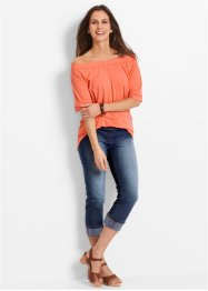 Jeggings a pinocchietto in cotone con cinta comoda, bpc bonprix collection