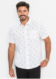 Camicia a manica corta in microfantasia regular fit, bpc bonprix collection