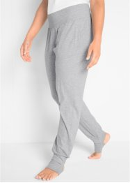Pantalone in maglina per lo sport con staffe, bpc bonprix collection