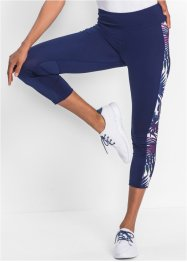 Leggings sportivo 3/4 con inserti fantasia, bpc bonprix collection