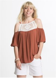 Blusa con pizzo all'uncinetto, RAINBOW