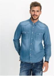 Camicia di jeans slim fit, RAINBOW