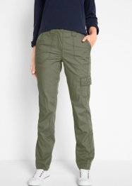 Pantalone cargo in popeline elasticizzato, bpc bonprix collection