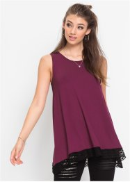 Top in maglina con pizzo, RAINBOW