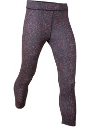 Leggings fantasia a pinocchietto per lo sport, bpc bonprix collection