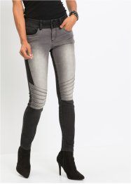 Jeans skinny bicolore effetto patchwork, RAINBOW