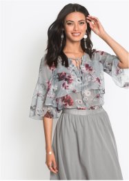 Blusa in chiffon con volants, BODYFLIRT