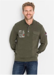Pullover lupetto regular fir, bpc bonprix collection