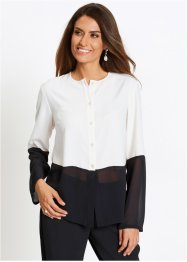 Blusa bicolore con satin, bpc selection premium