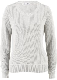 Pullover in cotone a manica lunga, bpc bonprix collection