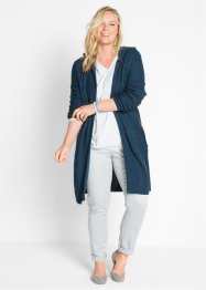 Cardigan lungo con cappuccio, bpc bonprix collection
