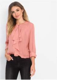 Blusa in satin con volant, BODYFLIRT