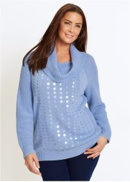 Pullover a collo alto con paillettes, bpc selection